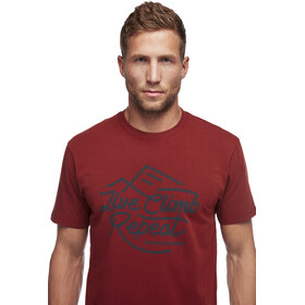 Black Diamond Live Climb Repeat T-shirt Heren, red oxide